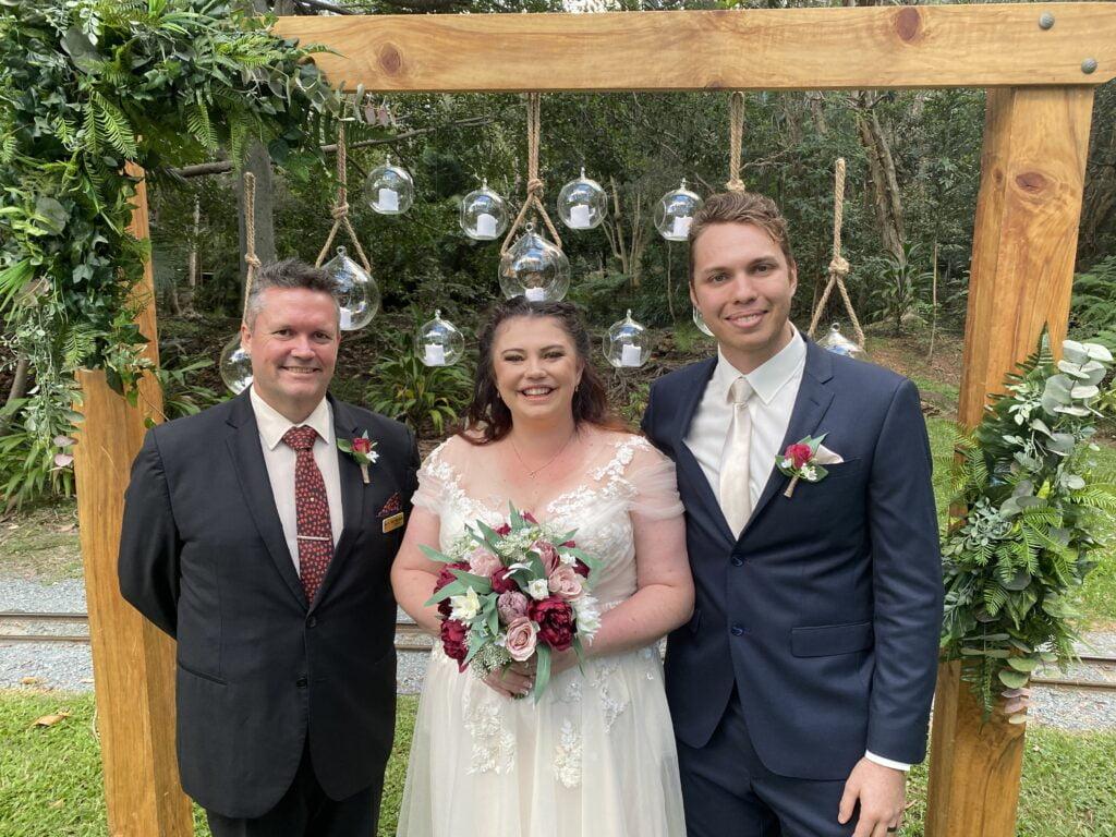 Wedding Ceremony at Currumbin Wildlife Sanctuary Gold Coast by Mark Reynolds Marriage Celebrant