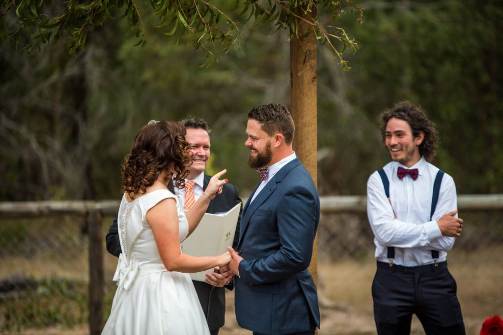 A wedding ceremony conducted by Mark Reynolds Marriage Celebrant in Jimboomba Logan